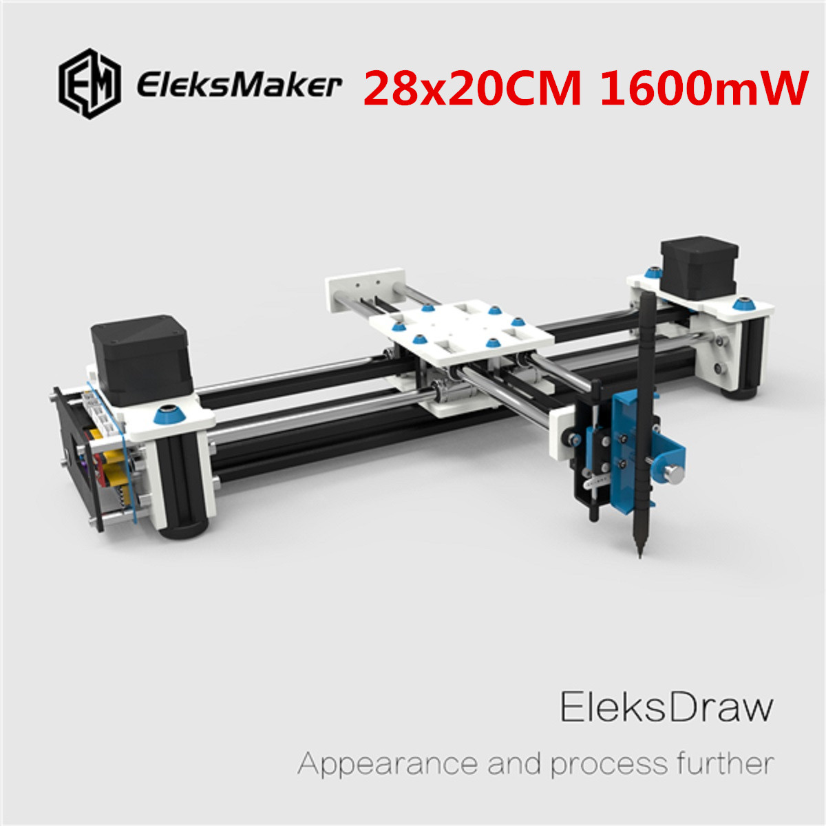 EleksMaker EleksDraw 1600mW Mini XY 2 Axis CNC DIY font b Laser b font Drawing Machine