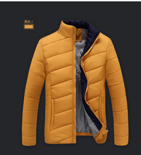 China cheap wholesale 2017 autumn winter new men fashion casual stand collar cotton-padded jacket outerwear men's clothing