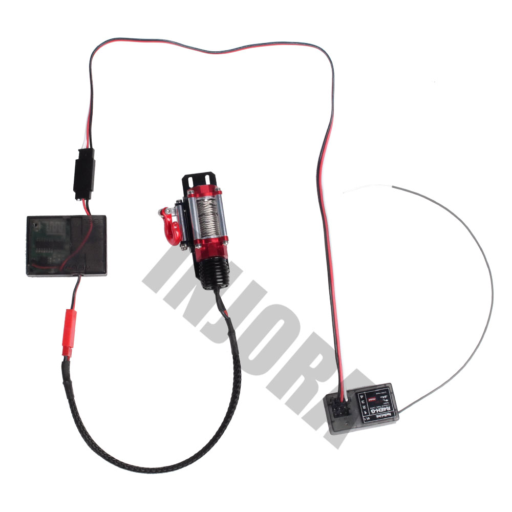 Image 5 - INJORA Wireless Remote Receiver Winch Controller Set for 1/10 RC Crawler Traxxas TRX4 Axial SCX10 D90 Tamiya CC01Parts & Accessories   -