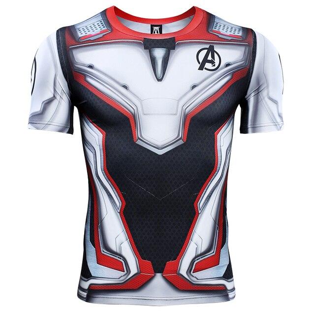 アベンジャーズ 4 Endgame 量子戦争 3D プリント Tシャツ男性圧縮シャツアイアンマンのコスプレ衣装長袖トップス男性