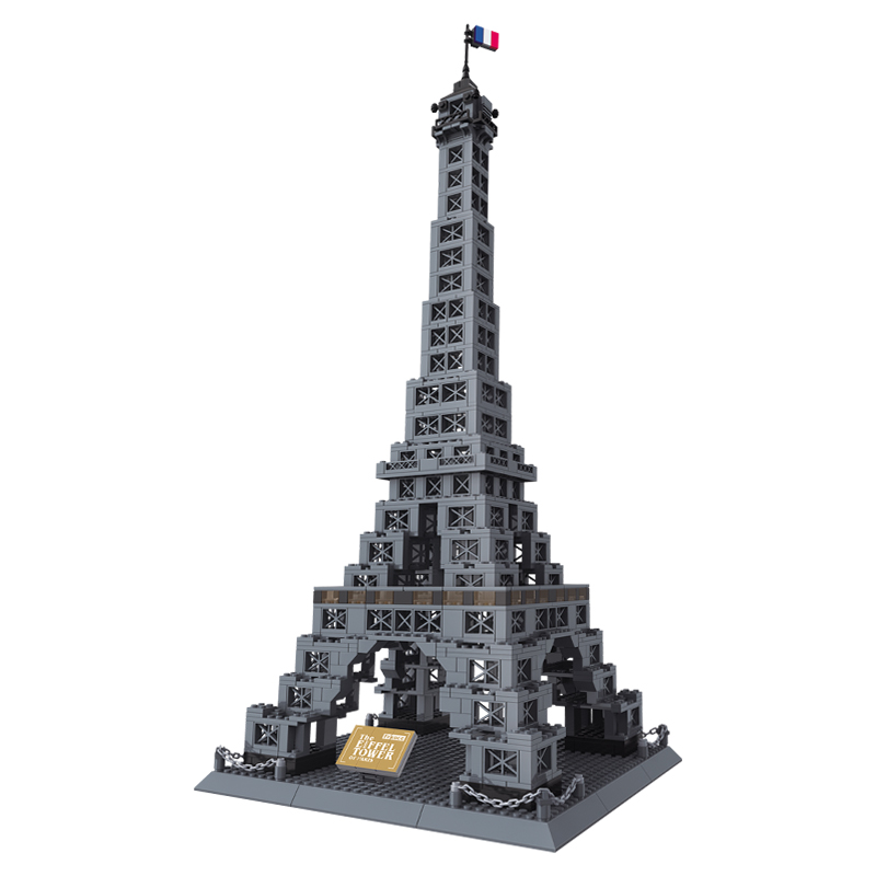 978pcs Famous Architecture Eiffel Tower Of Paris Building Block Brick Toy 8015