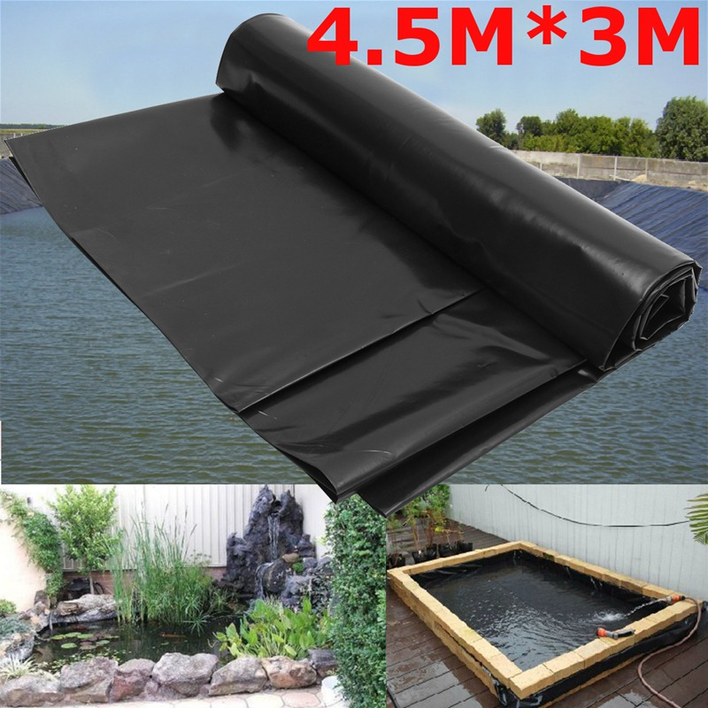 0.2mm Waterproof Liner Film Fish Pond Liner Garden Pools Reinforced HDPE Heavy Duty Guaranty Landscaping Pool Pond 4.5X3M