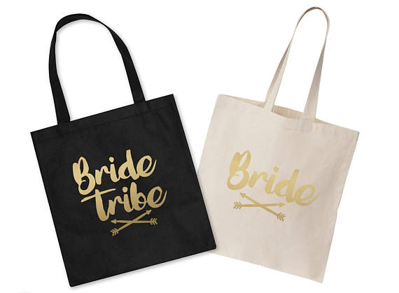 Wedding Personalised Tote Bags Customise Hen Do Bridesmaid Bride Tribe Wholesale