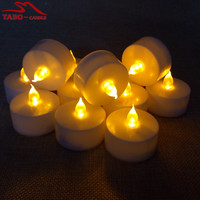 Free Shipping Pack Of 12 Electric Flameless Battery Included LED Tealight Candle In Yellow Light For