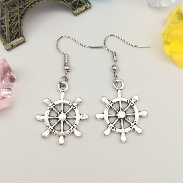rudder charm her tribal item jewelry bridesmaid anchor earrings boho gifts for