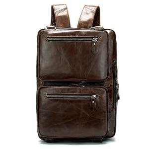 Image 3 - WESTAL Büyük Kapasiteli Erkekler Evrak Çantası Hakiki Deri İş Belge Çanta Erkekler için Deri laptop çantası 14 inç Bilgisayar Çantası 433