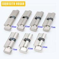 Door Hardware Security Cylinder Interior Room Door Glass Clamp Lock Handle Customized Partial Key Brass Copper
