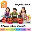 Juguete magnético 16-152 unids minitudou kds bloques de bloques de construcción de plástico 3d diy juguetes educativos kits de edificio modelo