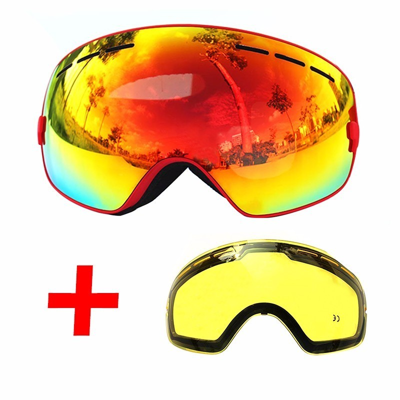 65aa2bd3e21a Dropwow COPOZZ Ski Goggles Double Layers UV400 Anti-fog Big Ski Mask ...