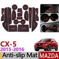 Противоскользящий резиновый коврик для ворот для Mazda CX-5 2015 2016 Facelift CX5 CX 5 MK1 аксессуары для автомобиля 18 шт./компл.