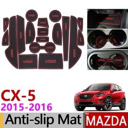 Posavasos de goma antideslizantes para Mazda CX-5 2015 2016 facial CX5 CX 5 MK1 Restyle accesorios coche pegatinas 18 unids/set