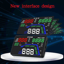 Auto HUD GPS Head Up Display 5.5 Digital Multi Color Car Speedometer Overspeed Warning Universal Dashboard Windshield Projector bigbigroad 3 5 inch car auto hud head up display digital gps speedometer windscreen projector overspeed alert fuel warning