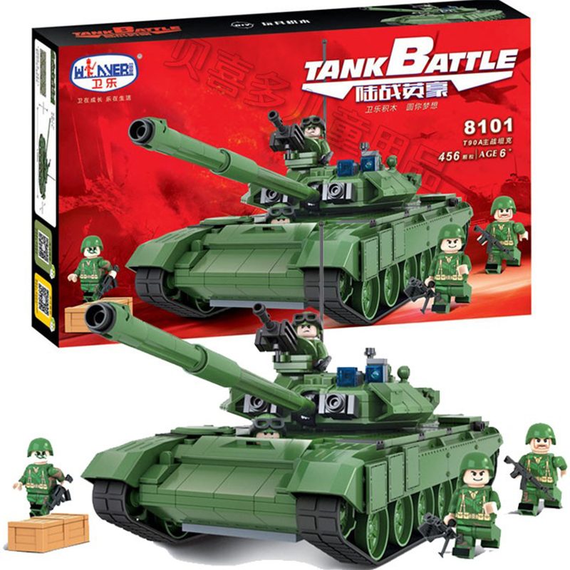 456Pcs Winner Military Battle Tank Model Toys Russia T90A Marine Hero Building Blocks Assembled Compatible With Legoed отсутствует fetes et courtisanes de la grece t 4