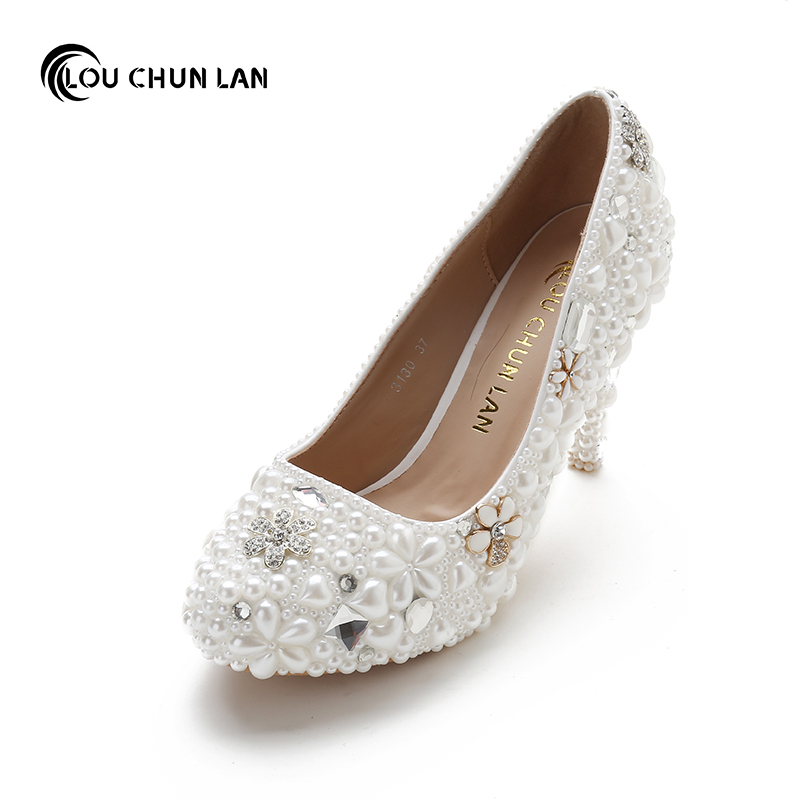 LOUCHUNLAN Women Pumps Shoes High Heels Wedding Shoes Elegant Rhinestone Pointed Toe Shoes Free Shipping Party shoes creative balloon and letters pattern flax pillow case(without pillow inner)