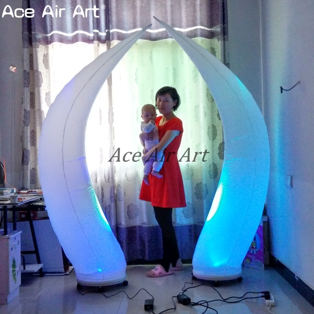 The Best Wedding Stage Decoration Beautiful Led Inflatable Cone With