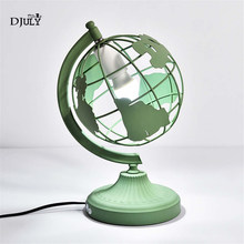 nordic creative Globe earth led table lamp colorful Personality bedroom bedside lamp home deco living room study table light e27(China)