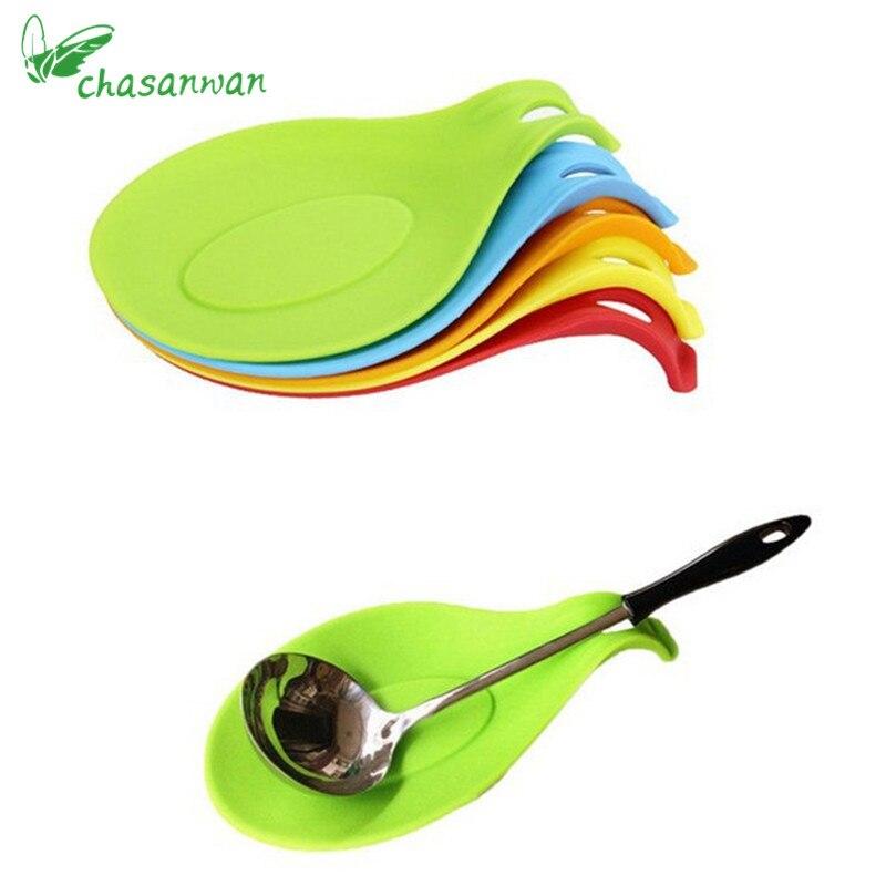 1 pc Accessoires De Cuisine Petit Silicone Cuillère Tapis, spatule Européenne Style Cuillère Pad pour Cuisine Gadget Articles de Cuisine Cuisine Outils