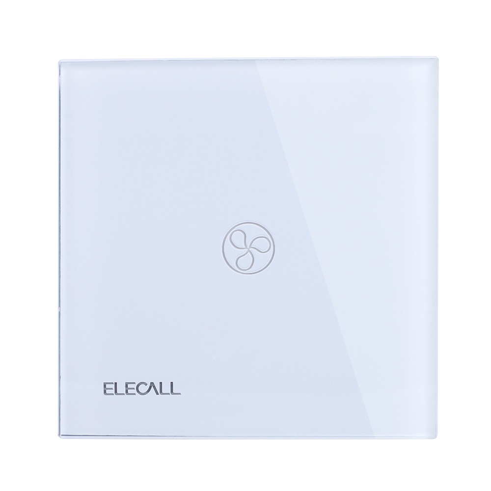ELECALL Smart switch Touch Switch  Wall Light Touch Screen Indicator Crystal Glass Switch Panel SK-A801F-EU free shipping smart home us au standard wall light touch switch ac220v ac110v 1gang 1way white crystal glass panel