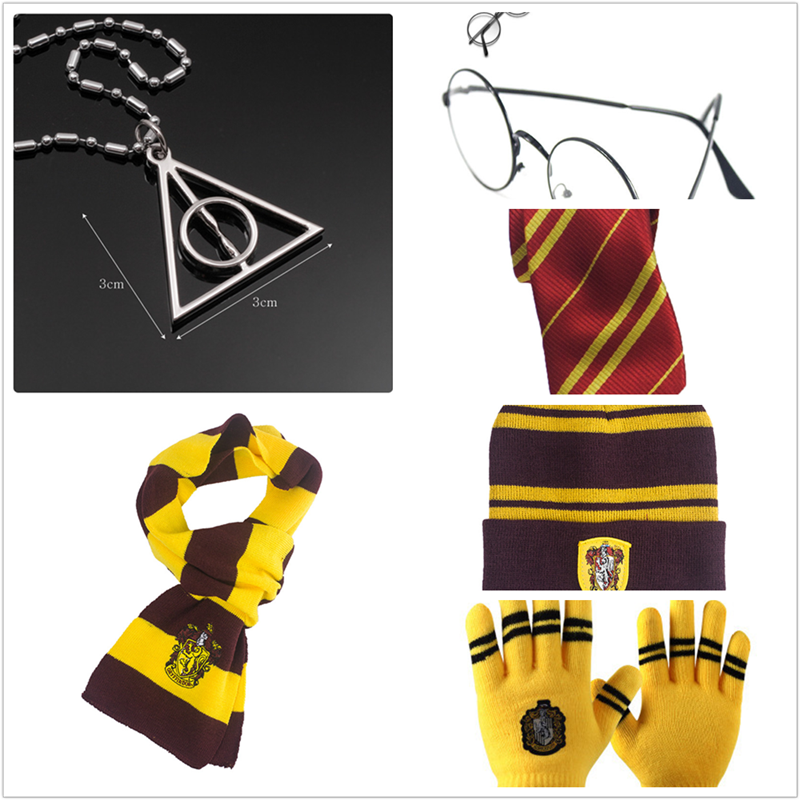 Harri Potter Hat Gryffindor Slytherin Hufflepuff Ravenclaw Cosplay Accessories Children Gifts Hogwarts College Role Playing