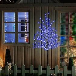 Blau 180cm Höhe LED Weihnachten Kirschblüte Baum Weihnachten FÜHRTE Baum Im Freien Urlaub Festival Party Hochzeit Garten Weihnachten Decor