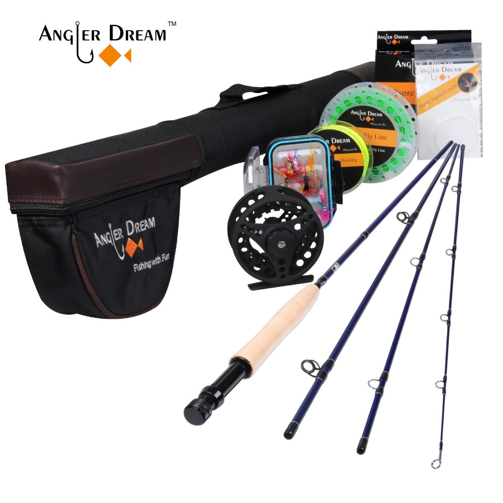 Fly-Rod Fishing-Rod-Combo Reel-Fishing Aluminum-Alloy Hard Fly-reel/Lure/line-set