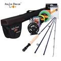 Fly Fishing 2.5M Fly Rod Hard Aluminum Alloy Fly Reel /Lure/Line Set Fishing Rod Combo 2.6:1 Reel Fishing