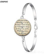 Serenity Gebed Pols Armband Religieuze Citaat Metalen Vergulde Armband Bangle Vrouwen Nieuwe Mode Zomer Decoratie Sieraden