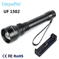 UniqueFire 1502 940NM IR LED Adjustable Zoomable 3 Modes Infrared Flashlight + Charger Outdoor Equipment Light For Night Hunting