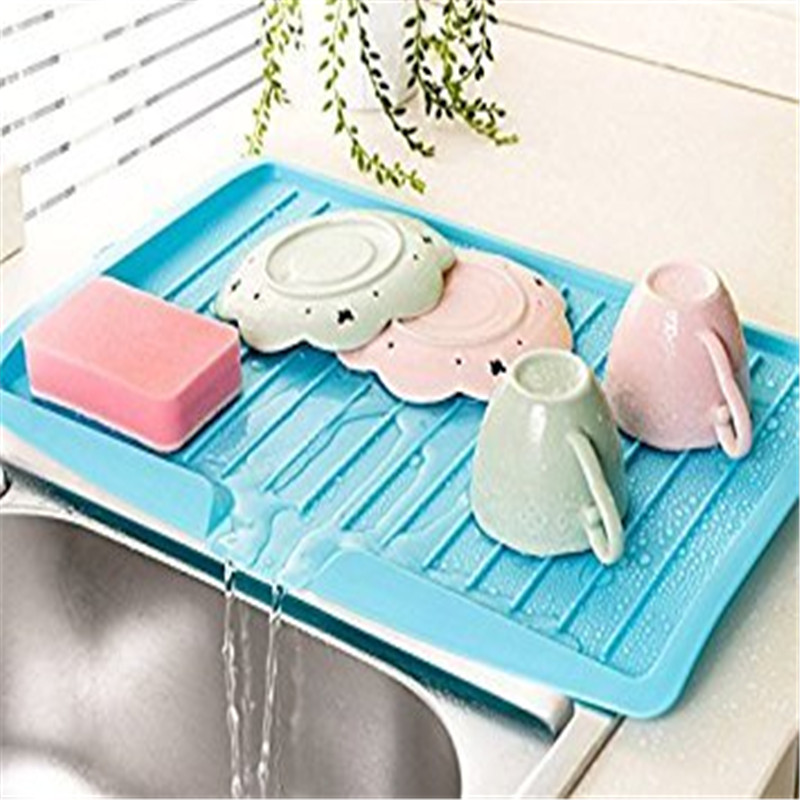 Rack Sink Shelving CUTLERY-FILTER-PLATE Drain-Board Dishes Storage Kitchen-Tools Plastic-Tray