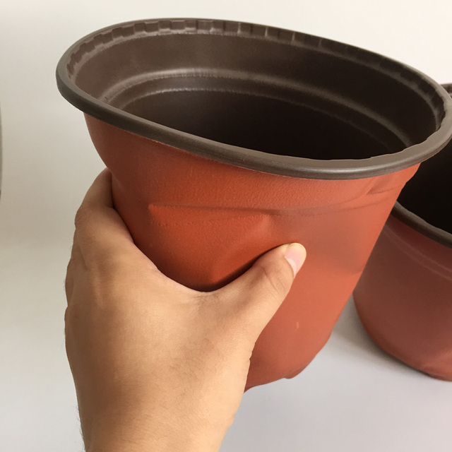 D18xh16cm 60pcs Lot Large Plastic Nursery Pots Decorative Small Pot Flower Caliber Corrosion