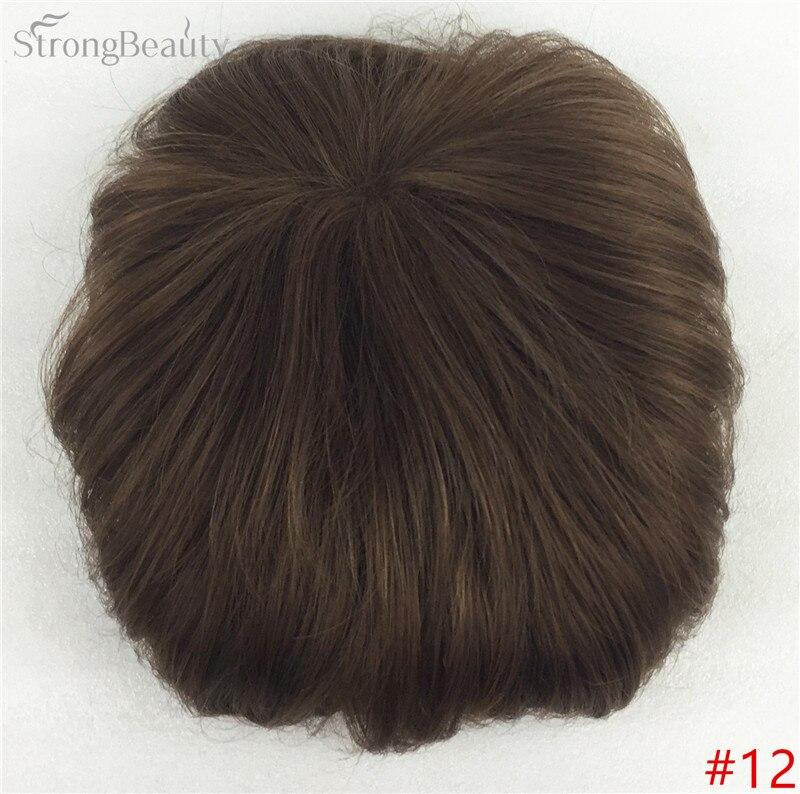 Сильная красота парик синтетические волосы парик выпадение волос топ кусок парики 36 цветов на выбор - Цвет: #12