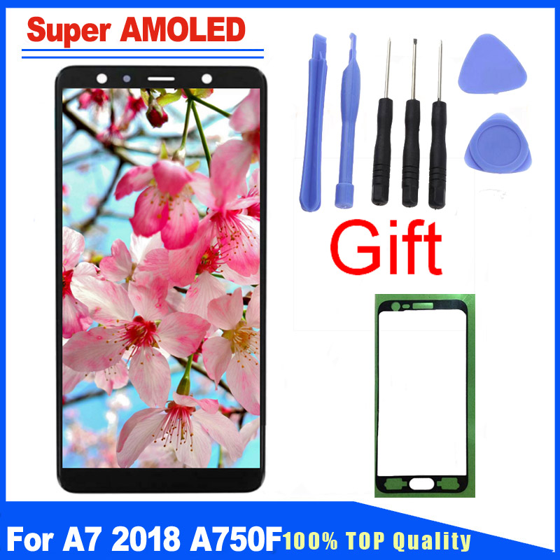 6.0 Super AMOLED For Samsung Galaxy A7 2018 SM-A750 A750F A750FN LCD Display Touch Screen Full Assembly Replacement Parts 6.0 Super AMOLED For Samsung Galaxy A7 2018 SM-A750 A750F A750FN LCD Display Touch Screen Full Assembly Replacement Parts