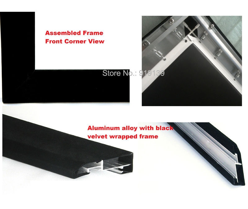 Good Gain Cinema Projection Screen 16:9 Curved Fixed Frame Projector ...
