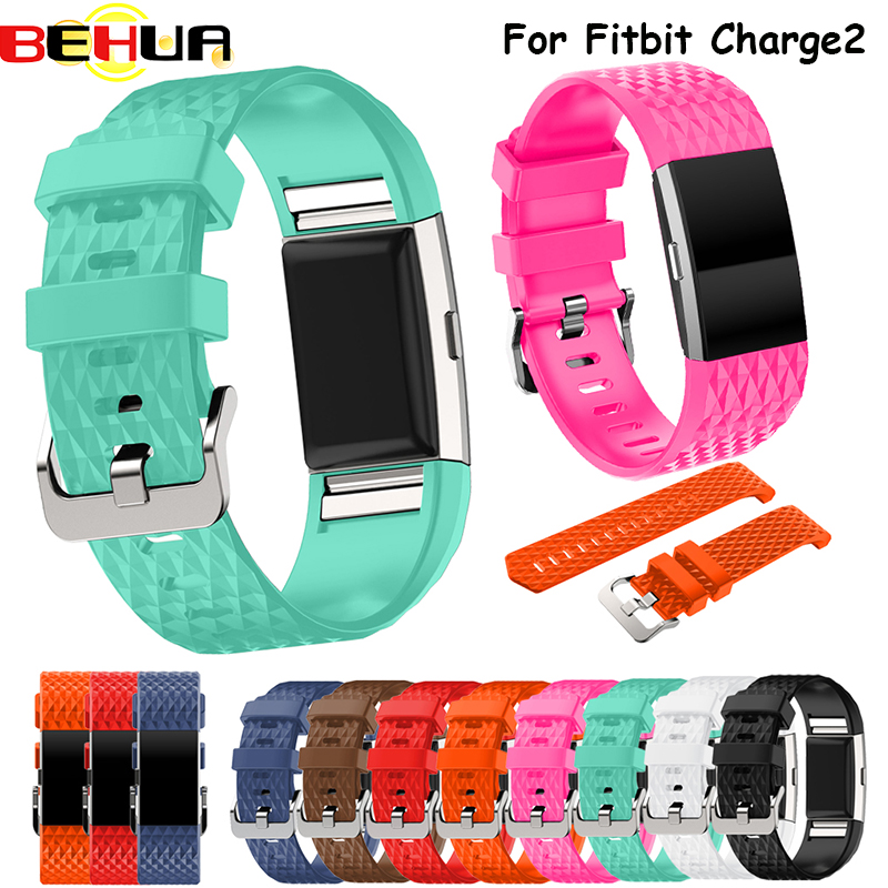 Consumer Electronics Kind-Hearted Soft Silicone Sport Bracelet Belt Replacement Wristband Watch Strap For Fitbit Charge 2 Bracelet Smart Accessories