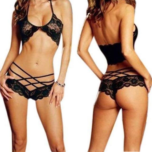 Ladies Hot Sexy Lingerie Halter Sleepwear Lace Sexy Costumes Women Sexy Underwear Temptation Erotic Lingerie Porno Costumes
