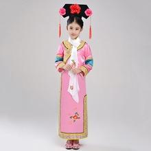 Интернет-магазин в китайском стиле; милое платье принцессы; нарядное платье для девочек+ головной убор+ веер; Детские костюмы для Хэллоуина; комплект одежды для девочек