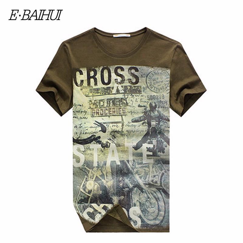 E-BAIHUI Summer Men Cotton Clothing Dsq T-shirtS Camisetas t shirt Fitness tops TeeS Skateboard Moleton mens t-shirts Y032 11
