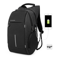 BOSEVEV Multifunction USB Charging Men 15inch Laptop School Backpacks For Teenager Male Mochila Travel Backpack Anti