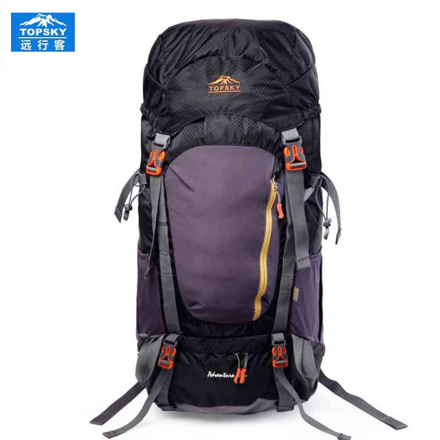 Topsky Men Women anti-tear waterproof sport bag 55L Outdoor climbing Riding Hiking backpack sports bags camping package