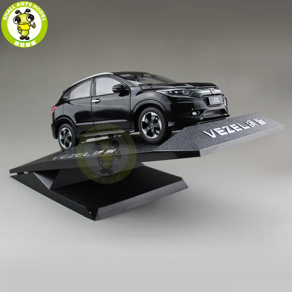 1/18 Honda VEZEL SUV Diecast Metal SUV Car Model Toys Girl Boy Gift Collection Hobby Black 1 18 bjc jeep 212 with cannon army military suv diecast alloy metal suv car model toy boy girl birthday gift collection hobby