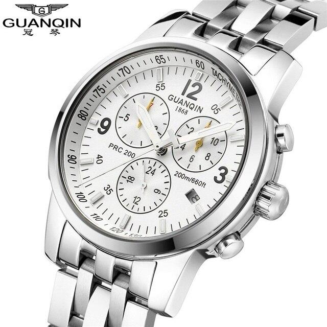 db6e2c616e20 Guanqin hombres de marca relojes hombre luminoso impermeable reloj mecánico  relojes analógico reloj de lujo del