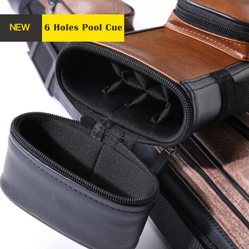 O'min Pool Cue Case 2 Colors 6 Holes High Quality Carrying Case Durable Kit Bag Professional Billiard Stick Accessories 2019 peri new arrival high end multi piece rod box billiard cue case professional durable pu cue case 12 hole billiard accessories