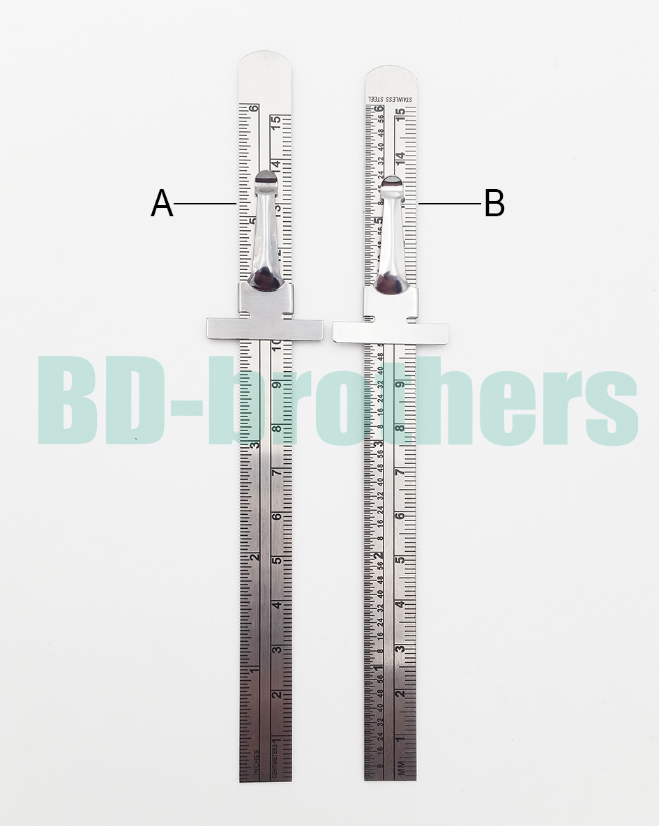 15cm stainless steel straight ruler metal graduated scale depth 15cm stainless steel straight ruler metal graduated scale depth gauges double sided inch repair rule measuring tool 1000pcslot in hand tool sets from tools nvjuhfo Choice Image