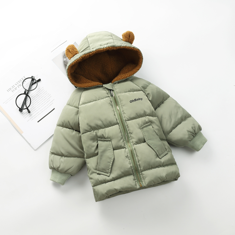 1-6 Years Kids Snowsuit Toddler Boys Girls Winter Coat Down Cotton Padded Warm Children Outwear Parkas Hooded Down Jackets Z381 wendywu new arrival kids parka fleece children thickteenager outwear boys winter jackets warm hooded cotton padded winter coat b