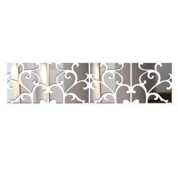 Gran oferta pegatinas De pared acrílicas 3d adhesivas De Parede Diy Gran plano Tv telón De fondo decorativo cuadro con imagen De espejo Europa