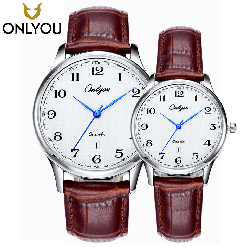 ONLYOU Men Watches Top Brand Luxury Famous WristWatch Women Fashion Casual Wristwatch Lover Simple Number Dial Quartz Clock Gift fashion couple queen king watches popular casual quartz women men watch lover s gift clock boys girls wristwatch