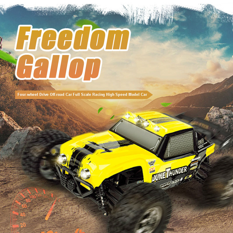 Remote Control Truck Off-road Desert Four wheel Drive Car 1:12 2.4G Full Scale Racing High Speed Model RC Car Toy With LED Light  children car model toy sandy land truck with light remote control dirt bike 9301 1 rc car 1 18 2 4g 2wdelectric racing car