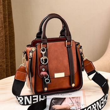 Fashion PU Leather Ladies HandBags Women Messenger Bags Totes Crossbody Shoulder Bag Boston Hand Bags Hot Sale Bolsa Feminina
