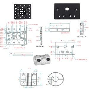 Image 5 - 3D Z Stampante c fascio T8 Vite di Comando OD 8 millimetri Passo 2 millimetri 150 millimetri 200 millimetri 250 millimetri 300 millimetri di CNC tavolo scorrevole attuatore lineare fascio kit