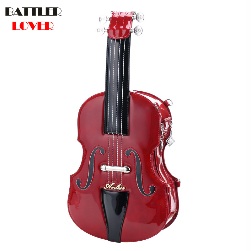 2018 New Handbag Violin Shaped Modeling Package Retro Beaded Chain Packet Femme Shoulder Diagonal Package Womens Crossbody Bag leaf shaped beaded detail chain bangle anklet